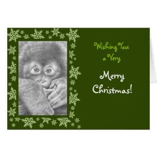 Baby Orangutan Christmas Card