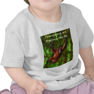 Baby Orangutan & Rainforest Primate Art Gift T Shirts