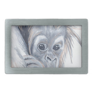 Baby-Orangutan Rectangular Belt Buckles