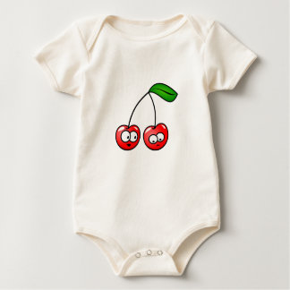 Baby Organic Cherry Clothes Gift  Holiday Fun Baby Bodysuit