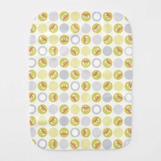 Baby Oscar Circle Pattern Burp Cloth