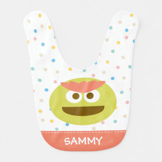 Baby Oscar the Grouch Face | Add Your Name Bibs