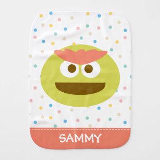 Baby Oscar the Grouch Face | Add Your Name Burp Cloth