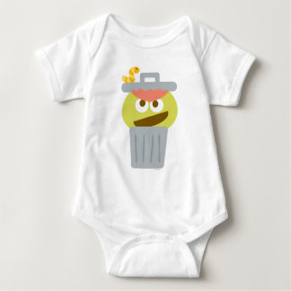 Baby Oscar the Grouch in Trashcan Baby Bodysuit