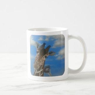 Baby ostrich and giraffe mug