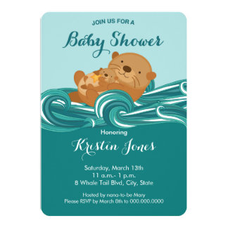 Baby Otter Baby Shower Invitation
