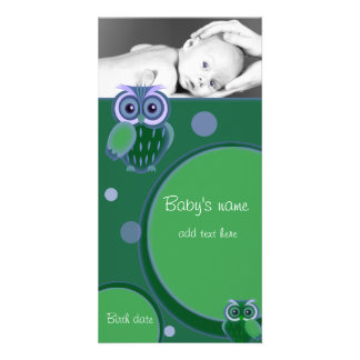 Baby Owl Announcement Photo Cards