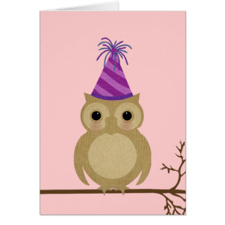 Baby Owl Birthday Card