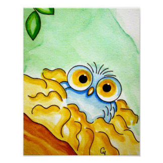 "BABY OWL BORN 11"" x 14"", Poster Paper (Semi Gloss)"