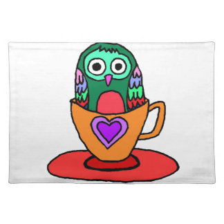 Baby Owl in a Teacup Placemats