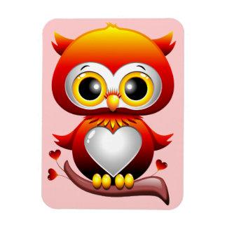 Baby Owl Love Heart Cartoon Magnet