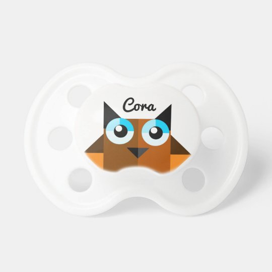 Baby Owl Personalised Name Pacifier