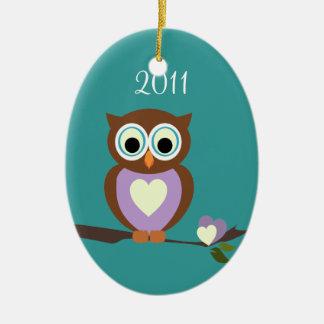 Baby Owl/ Photo Christmas Ornament