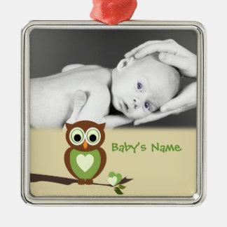 Baby Owl/Photo Christmas Ornament