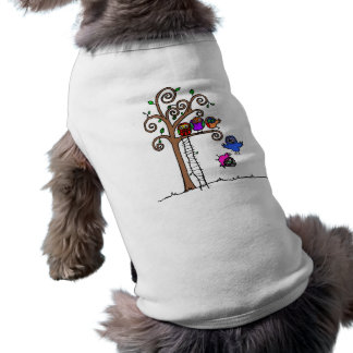 Baby Owls Learning to Fly Doggie Tee