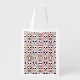 Baby Owls On Pale Pink Background Pattern
