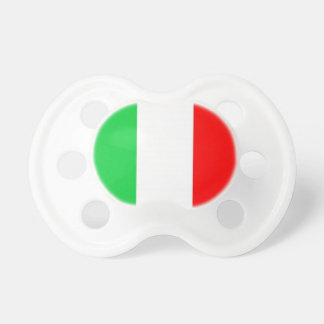 Baby Pacifier Italian  Flag