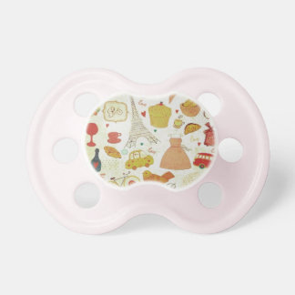baby pacifier, vintage,paris,cake baby pacifier
