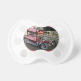 Baby Pacifier with a Bunk Bed Hot Rod
