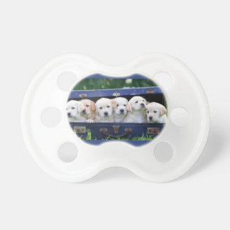 Baby Pacifier with six cute puppies