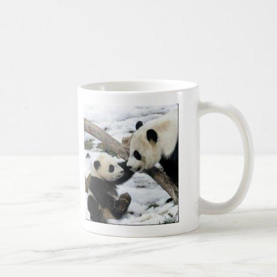 baby panda and mum coffee mug