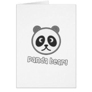 Baby Panda Cartoon Greeting Card