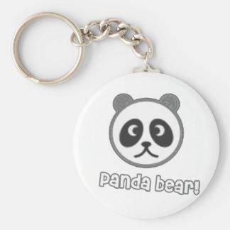 Baby Panda Cartoon Basic Round Button Key Ring