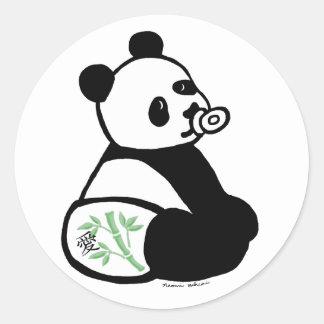 Baby Panda Cartoon Classic Round Sticker