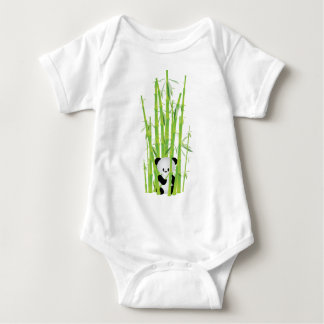 Baby Panda in Bamboo Forest Baby Bodysuit