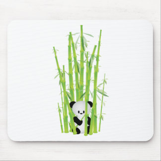 Baby Panda in Bamboo Forest Mouse Mat