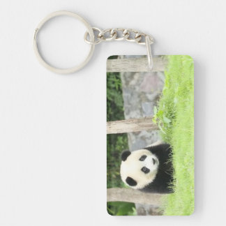 Baby Panda in the Grass Key Ring