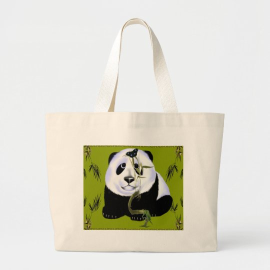 Baby Panda mousepad Large Tote Bag