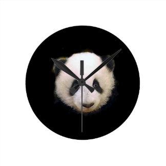 Baby Panda Round Clock