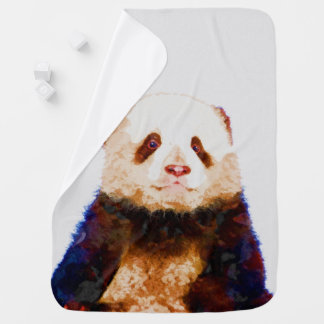 Baby Panda Watercolor Nursery Print Baby Blanket