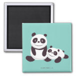 Baby Pandas Square Magnet