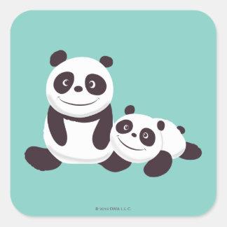 Baby Pandas Square Sticker