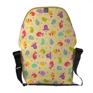 Baby pattern with cute birds messenger bags