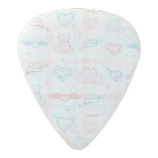 baby pattern with teddy bear acetal guitar pick