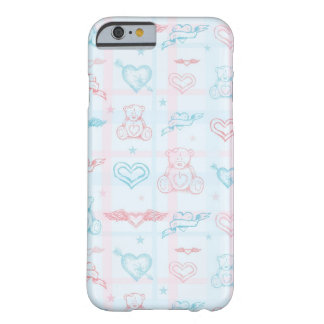baby pattern with teddy bear barely there iPhone 6 case