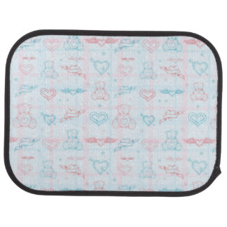 baby pattern with teddy bear floor mat