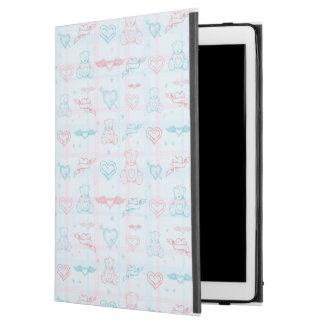 "baby pattern with teddy bear iPad pro 12.9"" case"