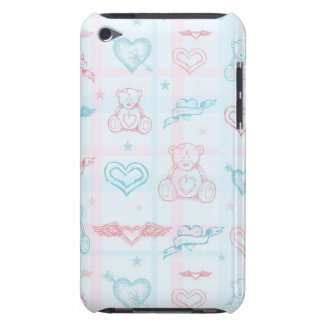 baby pattern with teddy bear iPod Case-Mate case
