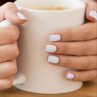 baby pattern with teddy bear minx nail art