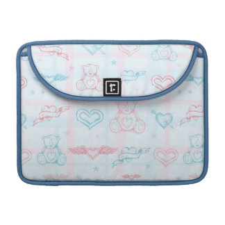 baby pattern with teddy bear sleeve for MacBook pro