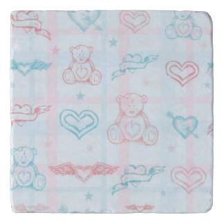 baby pattern with teddy bear trivet