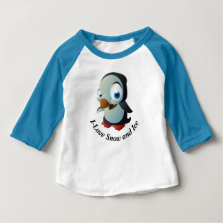 Baby Penguin Apparel Sleeve Raglan T-Shirt