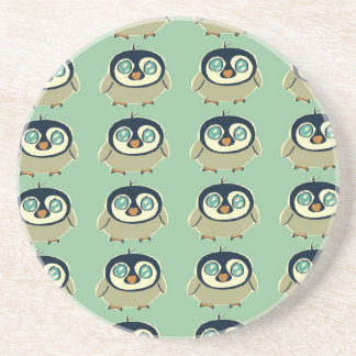 Baby penguin beverage coaster