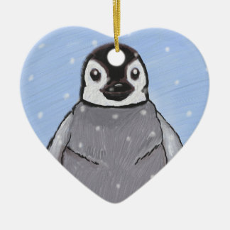 Baby penguin. christmas ornament