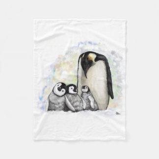 Baby Penguin Family Fleece Blanket
