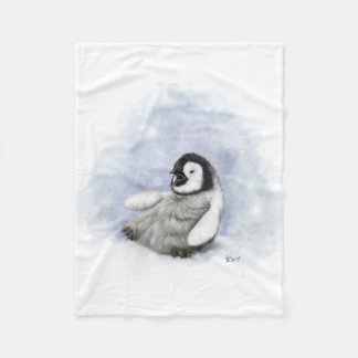 Baby Penguin Slipping Fleece Blanket